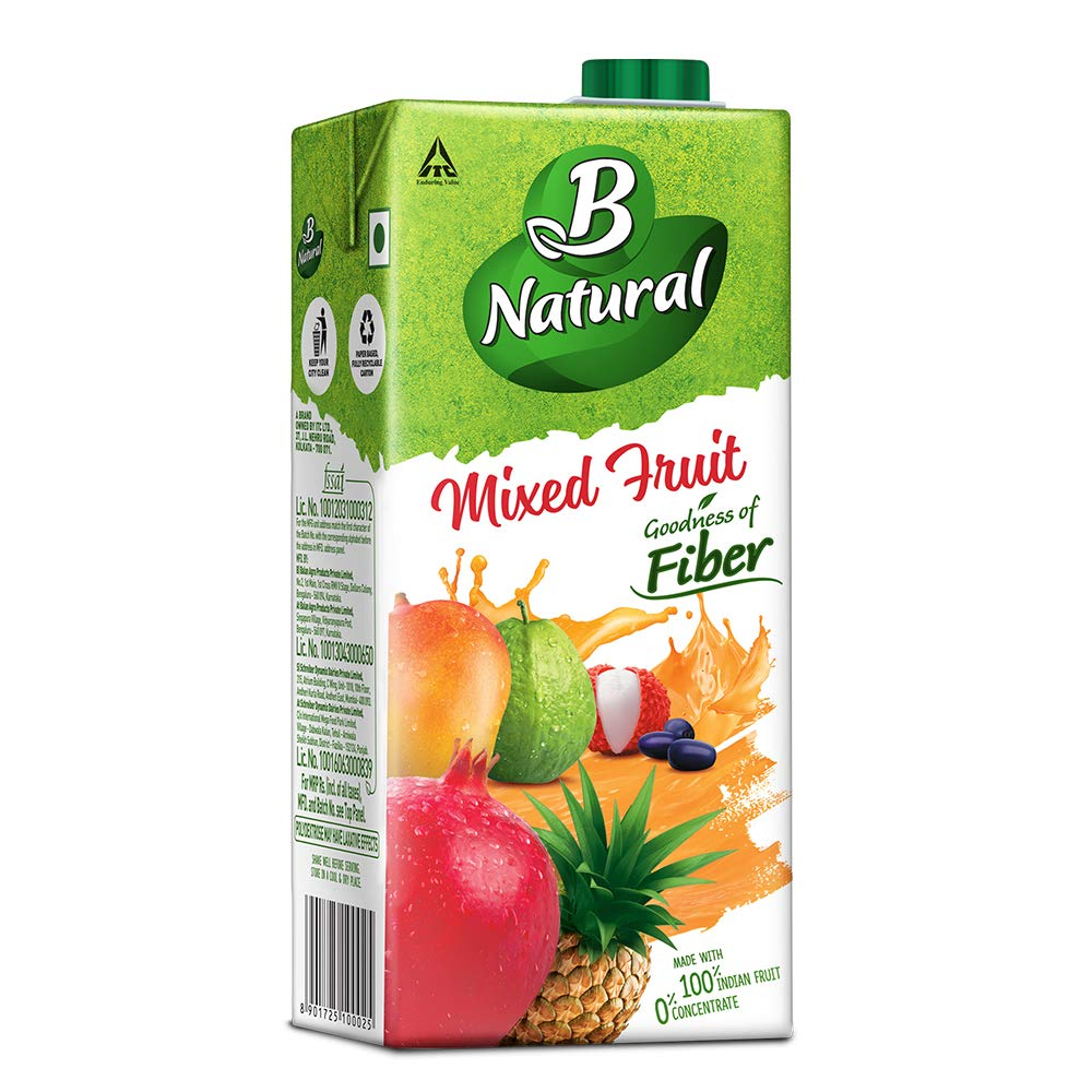 B-NATURAL MIXED FRUIT 1LTR