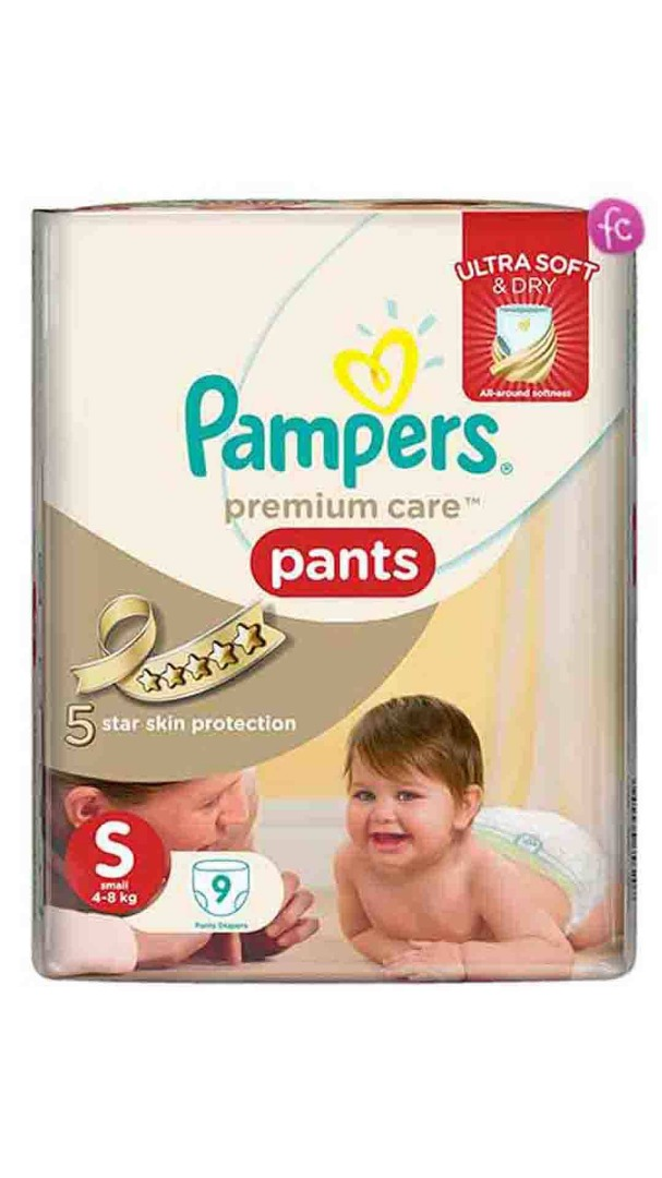 PAMPERS PREMIUM S-9 PANTS