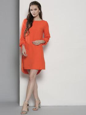 DOROTHY PERKINS Women Orange Solid A-Line Dress